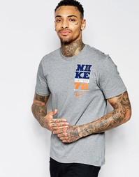 Серая футболка с принтом Nike Summer Camp 779743-063 - Серый
