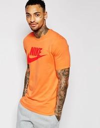 Оранжевая футболка Nike Futura Solstice 807929-868 - Оранжевый