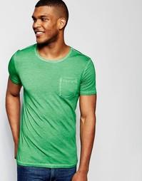 Футболка с карманом United Colors of Benetton - Зеленый