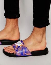 Шлепанцы с принтом Nike Benassi JDI 631261-014 - Черный