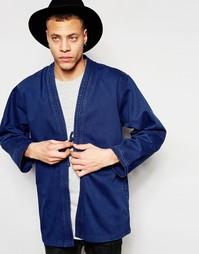 Синяя куртка‑кимоно Waven Imma - Японский голубой