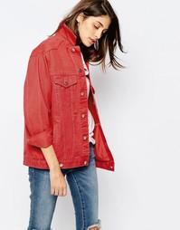 Красная джинсовая выбеленная куртка ASOS - Выбеленный красный