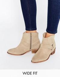 Замшевые туфли на широкую ногу ASOS ANYA - Песок