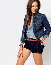 Укороченная джинсовая куртка Jack Wills - Indigo - индиго