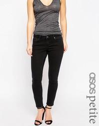 Черные джинсы скинни ASOS PETITE Whitby - Выбеленный черный