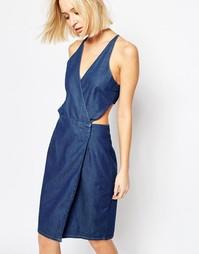 Джинсовое платье с вырезами Dr Denim Agata - Синий