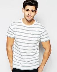Трикотажная футболка в жаккардовую полоску D-Struct - Белый