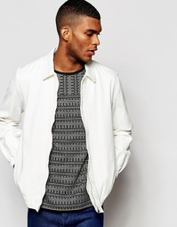 Белая джинсовая куртка с эластичной кромкой ASOS - Белый