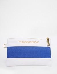 Полосатый парусиновый клатч Thursday Friday - Темно-синий