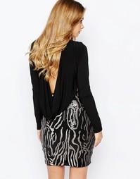 Платье с пайетками на юбке Hedonia Gabby - Черный