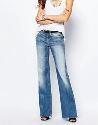Расклешенные джинсы с высокой талией G-Star - Синий