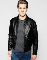 Куртка Харрингтон из фактурной искусственной кожи Barney's - Черный