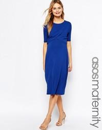 Платье с запахом для беременных ASOS Maternity NURSING - Темно-синий