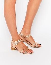 Телесные сандалии на среднем каблуке Head over Heels By Dune Nadie