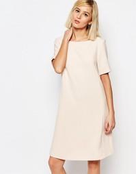 Платье с короткими рукавами Selected Londan - Peach blush