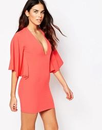 Платье мини Hedonia Demi - Коралловый
