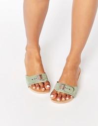 Замшевые сандалии на деревянной подошве ASOS FIRST ONE - Мятный
