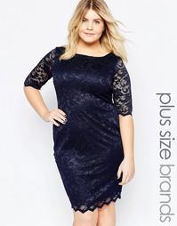Кружевное платье Goddiva Plus - Темно-синий