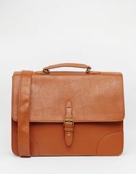 Элегантная сумка-сэтчел из искусственной кожи ASOS - Рыжий