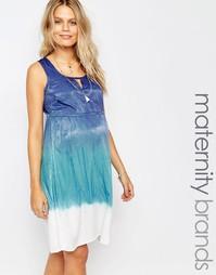 Kороткое приталенное платье с узором тай-дай Mamalicious - Синий Mama.Licious