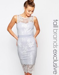 Кружевное платье-футляр с лямкой через шею Paper Dolls Tall - Мульти