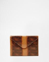 Клатч-конверт из искусственной змеиной кожи Glamorous