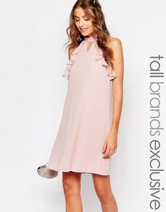 Цельнокройное платье с оборками на рукавах True Decadence Tall