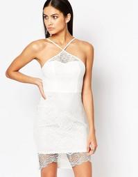 Белое кружевное платье‑футляр Ariana Grande for Lipsy - Белый