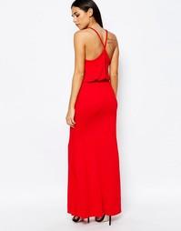 Платье макси с перекрещивающимися лямками сзади Club L - Красный