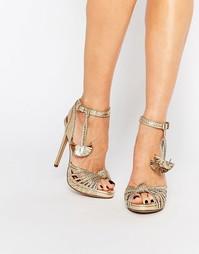 Золотистые сандалии на каблуке KG By Kurt Geiger Hoax - Золотой