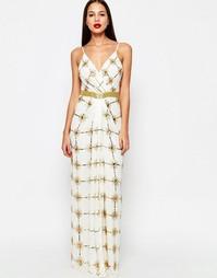 Платье макси с разрезом Virgos Lounge Natasha - Белый