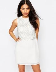 Цельнокройное платье без рукавов Glamorous - Кремовый