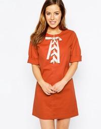 Платье со шнуровкой спереди Sister Jane Savannah - Красно-бурый