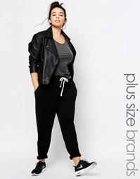 Трикотажные гаремные брюки с контрастной завязкой One Day Plus