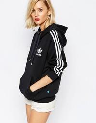 Худи через голову с 3 полосками adidas Originals Adicolour - Черный
