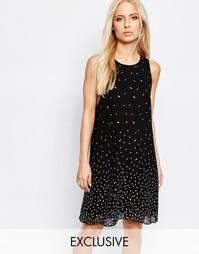 Цельнокройное платье с принтом в виде листиков Y.A.S - Принт листва