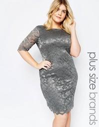 Кружевное платье Goddiva Plus - Серый