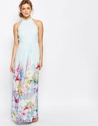 Платье макси Ted Baker Hanging Gardens - Мятный