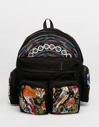 Рюкзак ручной работы с яркой вышивкой Hiptipico - Мульти