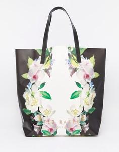 Большая сумка-тоут с цветочным принтом Ted Baker - Цветочный
