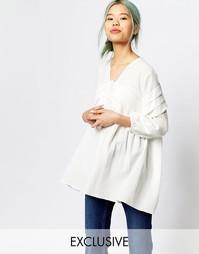 Oversize-блузка со складками спереди и рукавами с напуском Zacro