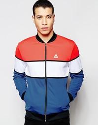 Синяя спортивная куртка в стиле ретро Le Coq Sportif 1611365 - Синий