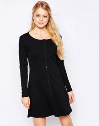 Свободное платье на пуговицах спереди Glamorous - Черный