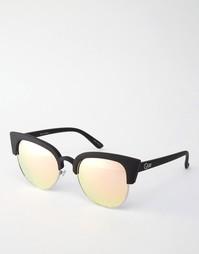 Солнцезащитные очки кошачий глаз Quay Australia Avalon - Pink mirror