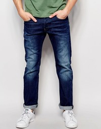 Потертые джинсы узкого кроя G-Star Revend - Выбеленный посередине