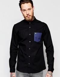 Рубашка с принтом в ломаную клетку Lyle & Scott - Черный