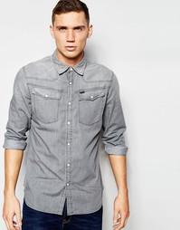 Серая джинсовая рубашка в стиле вестерн G-Star 3301