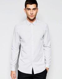 Серая меланжевая рубашка классического кроя ASOS - Серый