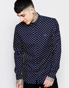 Рубашка слим в горошек Fred Perry - Темно-синий