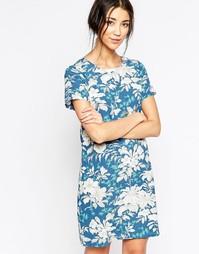 Цельнокройное платье с цветочным принтом Sugarhill Boutique - Синий